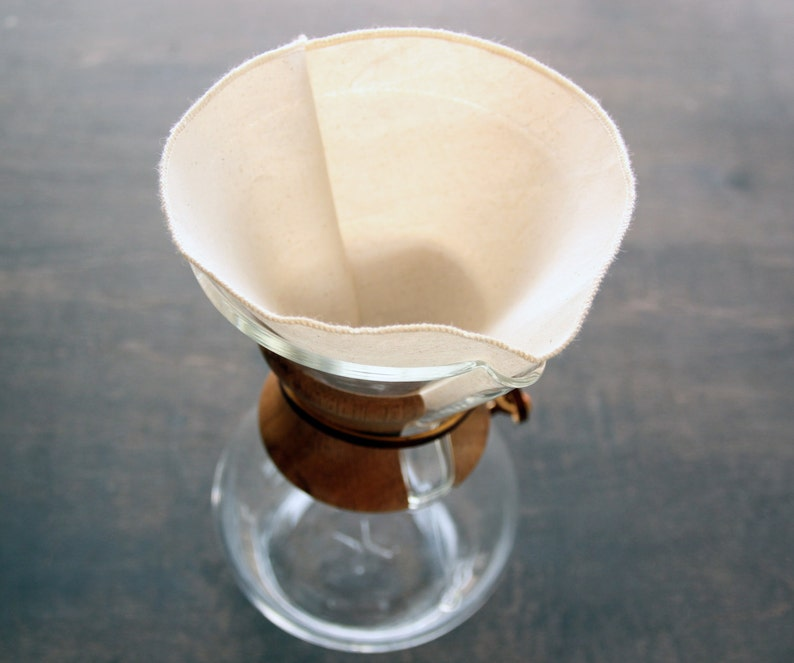 Organic Cotton Reusable Coffee Filters Chemex 6 8 10 12 Cup Etsy