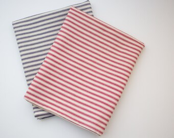 Blue Ticking Tea Towel Hand Towel