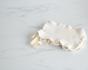 Organic Cotton Sherpa Washcloth Mitt