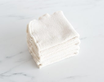 Organic Natural Sherpa Washcloth, Dish Cloth, Set of 2, Available in Two Sizes