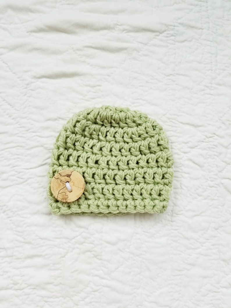 92bf2ae46 Chunky Baby Boy Beanie Newborn Boy Hat Green Beanie Baby