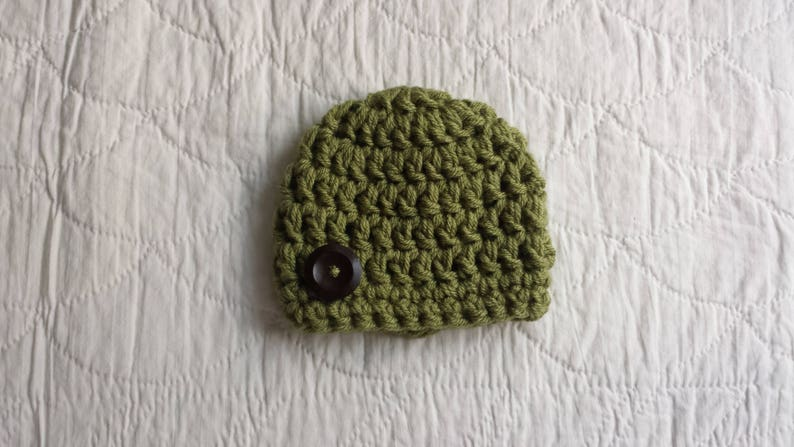 Crochet Infant Hat Chunky Newborn Baby Hat Infant Baby Beanie Green Hat Newborn Baby Boy Hat Baby Homecoming Hat Baby Gift