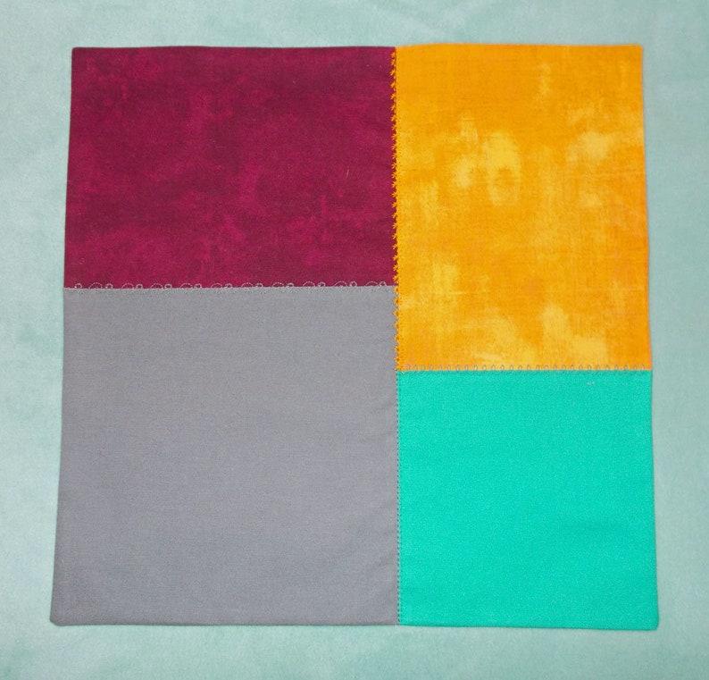 Jewel Tones 2-ply cotton hanky Colorblock #4