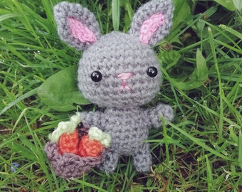 Grey bunny amigurumi *made to order*