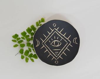 Modern Boho Ring Dish Ceramic Ring Dish Ceramic Bowl ~ Jewelry Dish Black and White Ceramic Dish Jewellery Dish Ceramic Plate Ring Display
