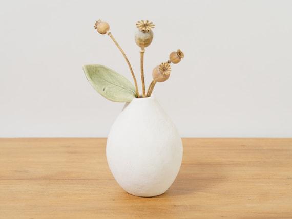 White Modern Vase White Ceramic Vase Handmade Pottery Vase Etsy