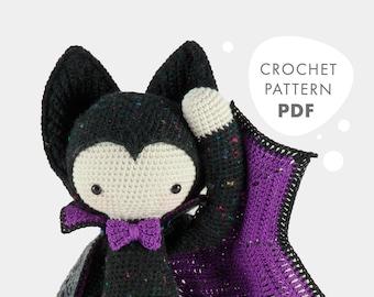 VLAD the vampire bat • lalylala crochet pattern / amigurumi