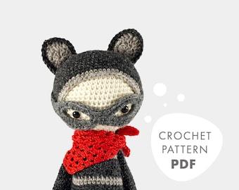 ROCO the raccoon • lalylala crochet pattern / amigurumi