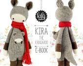 KIRA the kangaroo lalylala crochet pattern amigurumi
