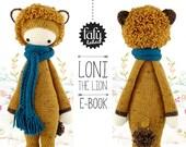 LONI the lion • lalylala crochet pattern / amigurumi