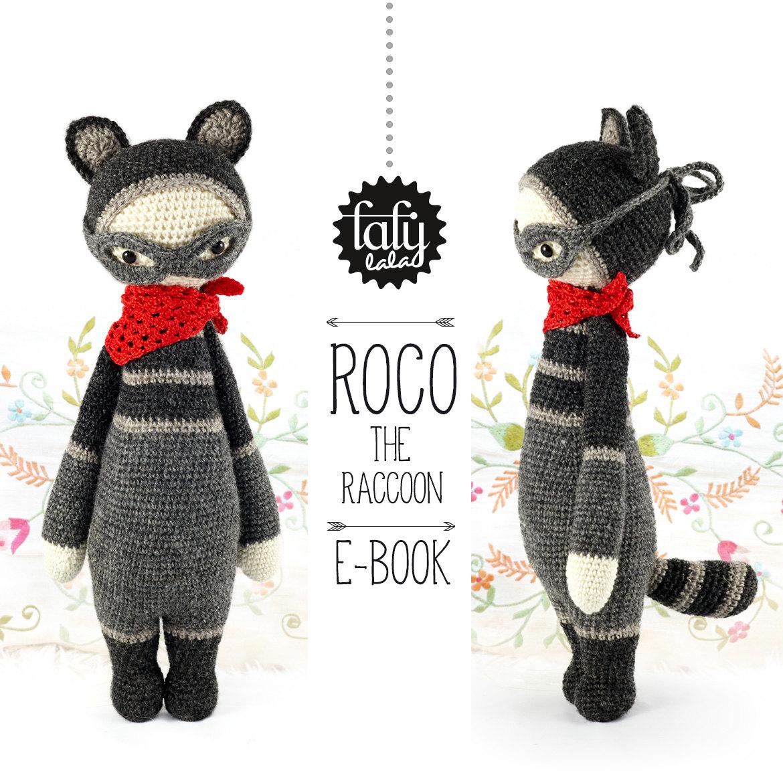 Mapache ROCO lalylala patrón de crochet / amigurumi | Etsy