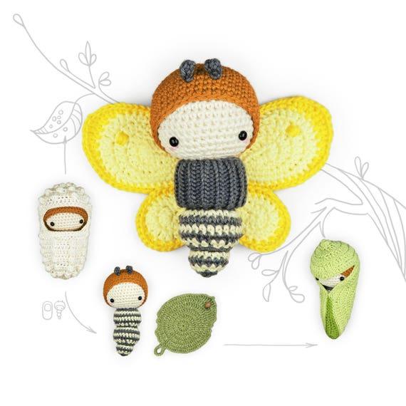 Häkelanleitung Gelber Schmetterling Zitronenfalter Lalylala Etsy