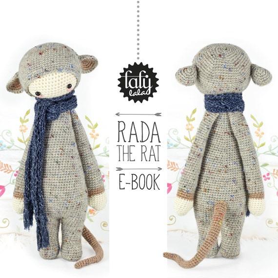 Rata RADA lalylala patrón de crochet / amigurumi | Etsy