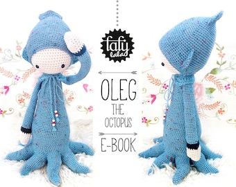 OLEG the octopus • lalylala crochet pattern / amigurumi