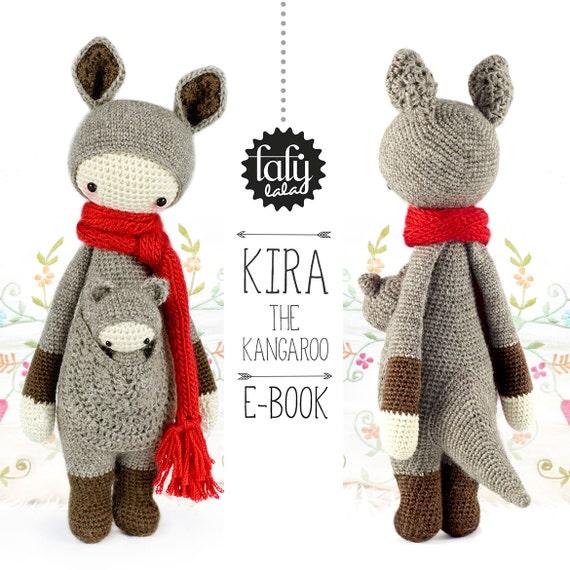 Canguro KIRA lalylala patrón de crochet / amigurumi | Etsy