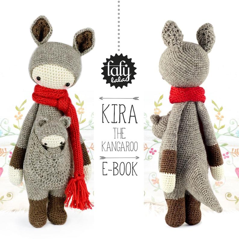 KIRA the kangaroo  lalylala crochet pattern / amigurumi image 0