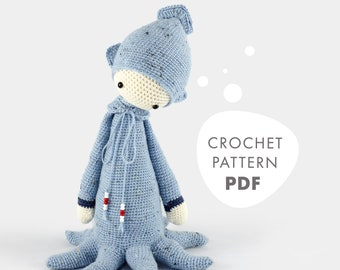 OLEG the octopus • lalylala crochet pattern / amigurumi
