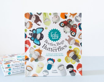 lalylala CROCHET BOOK Beetles, Bugs and Butterflies - signed, dedicated, amigurumi bugs crochet patterns