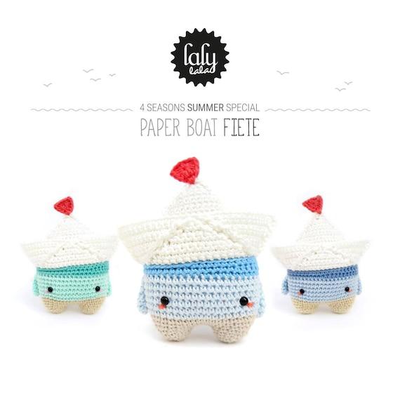 barquito de papel FIETE lalylala patrón de crochet /   Etsy