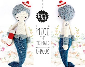 MICI the mermaid • lalylala crochet pattern / amigurumi