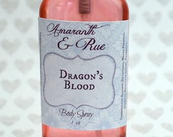 Dragon's Blood Body Spray   Amaranth & Rue   2.5 oz