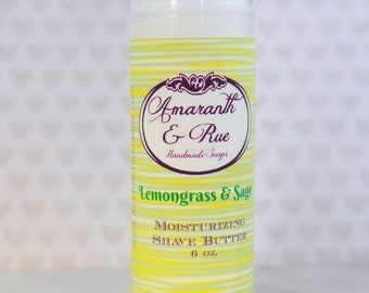 Lemongrass and Sage Shave Butter   Amaranth & Rue