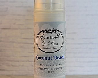 Coconut Beach Shave Butter   Amaranth & Rue