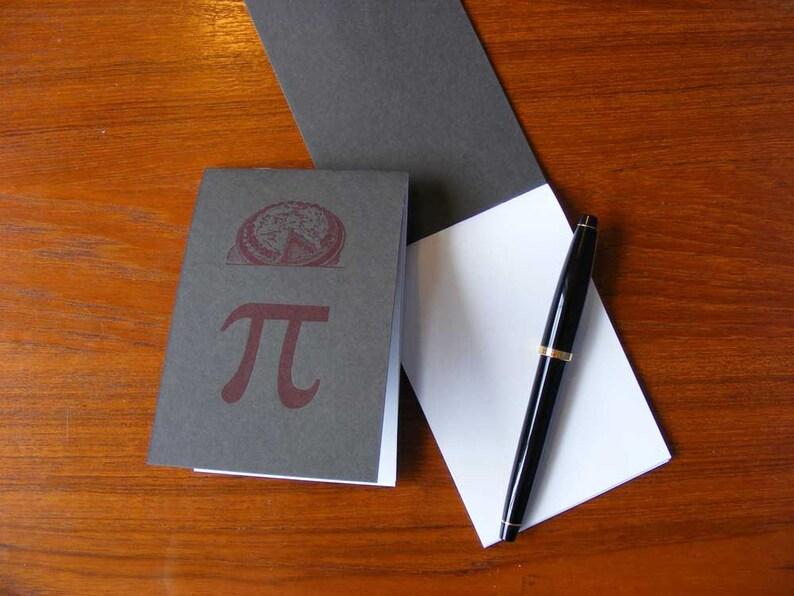 Pi Pie Letterpress Notepad image 0
