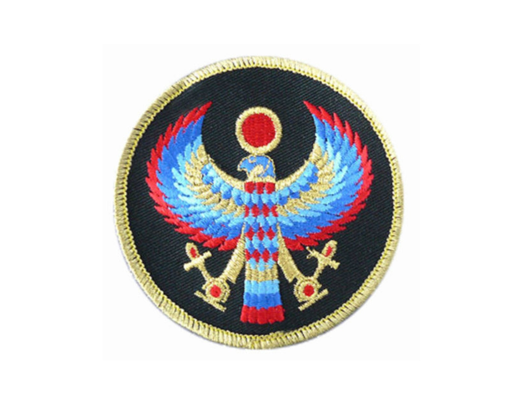 Horus Patch 3 Round Patch Sew On Applique Egyptian Etsy