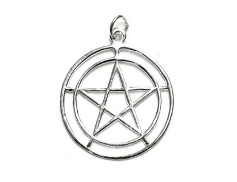 0cabb590e1d Double Circle Pentagram Pendant Sterling Silver Pentacle