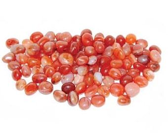 Carnelian Tumbled stones - 1 lb., Bulk carnelian, Crystal healing, Rock magick, Sacral chakra, Red orange carnelian, Motivation, Chalcedony