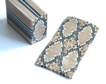 Polymer Clay Snake Skin Cane, raw and unbaked cane, square cane, Millefiori,  Premo Fimo cane