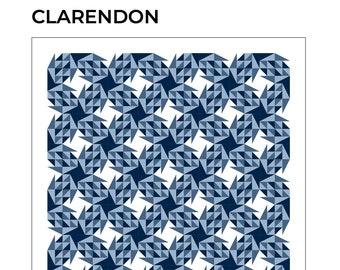 Clarendon modern quilt pattern, modern pattern with a vintage twist!