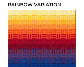 Rainbow Quilt Patterns, Modern Quilt Patterns, PDF Quilt Patterns, Geometric Quilt Patterns, Easy Quilt Patterns, Beginner Quilt Patterns