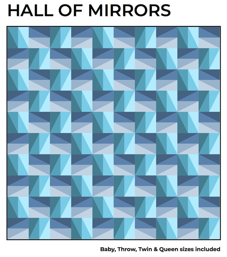 Hall of Mirrors Modern Quilt Pattern PDF Download image 0