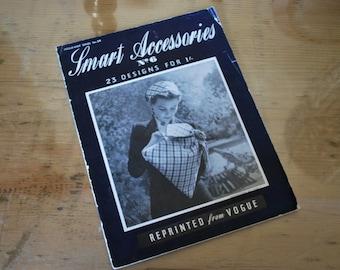 Vogue 1940's Original Smart Accessories Booklet no 6 WW2 Make Do and Mend