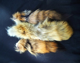 """Real Fur Coyote Tail 11-15"""" 'Shorties' Totem Key chain Key Ring Furry Animal Ornament for Purse, Anime Costume, Etc"""