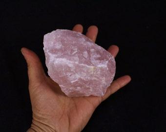 "3-4"" large pink rose quartz rough chunk crystal gemstone mineral specimen"