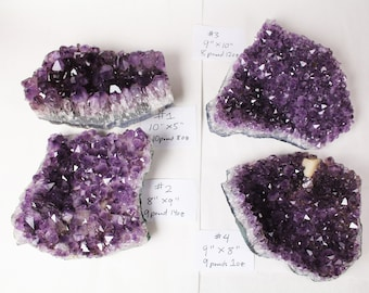 HUGE 9 plus inches Amethyst clusters chunk purple BEST QUALITY quartz crystal real natural gemstone cathedral specimen gift