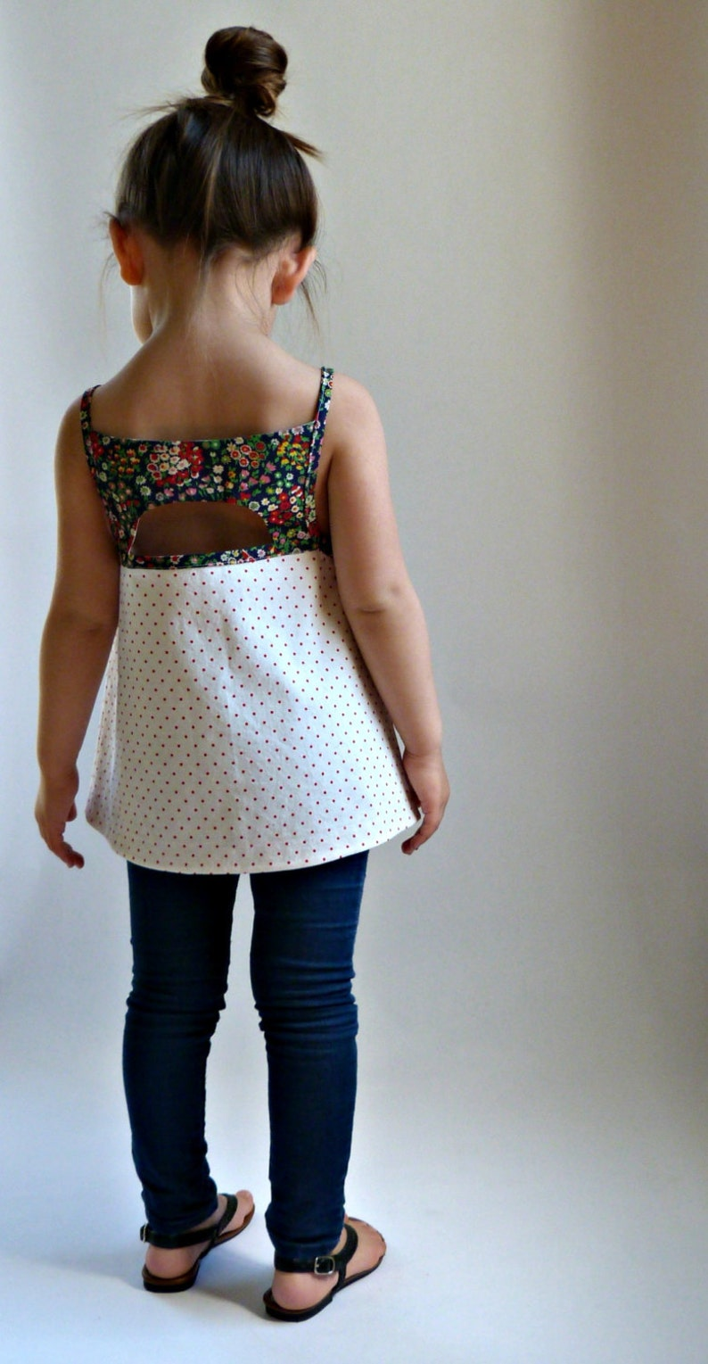 SHANDIIN Tank & Tunic  PDF Sewing Pattern for Girls 12/18mo image 0