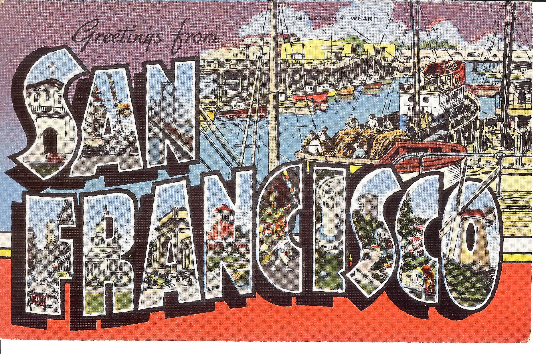 Vintage linen postcardlifornia greetings from san etsy zoom m4hsunfo
