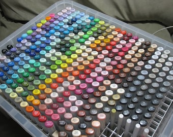 Copic Marker Storage Box Holds & Organizes 358+ Sketch lot (NO Markers Included)