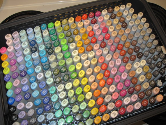 Copic Marker Storage Box Holds Organizes 300 Sketch No Markers Included