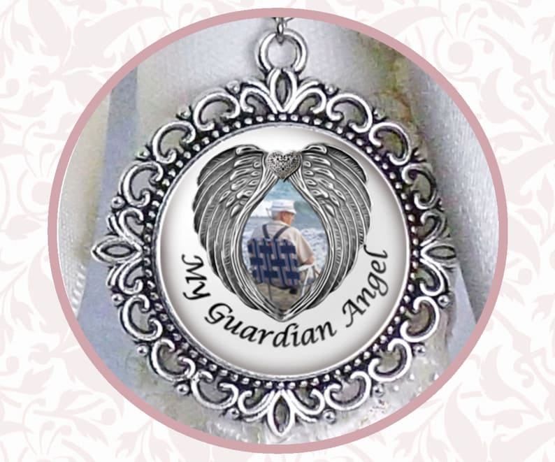 Wedding Bouquet Charm With Wings My Guardian Angel Your image 0