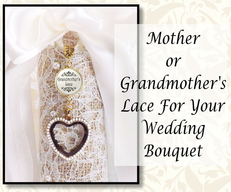 Mother's Lace in Wedding Bouquet Charm Grandmother's image 0
