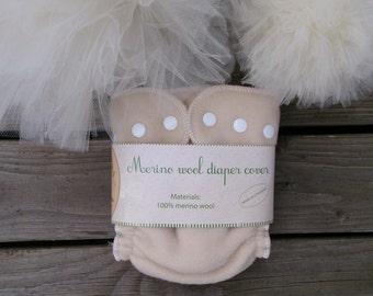 AIO, All in one cloth diaper / cloth nappy with wool / eco friendly hemp / organic wool