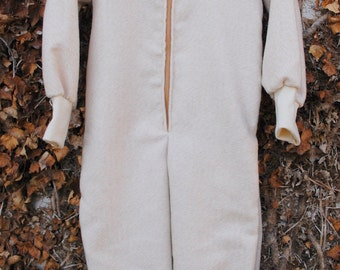 100% extra fine merino wool overall  / baby jumpsuit / toddler romper / eco friendly / hand made