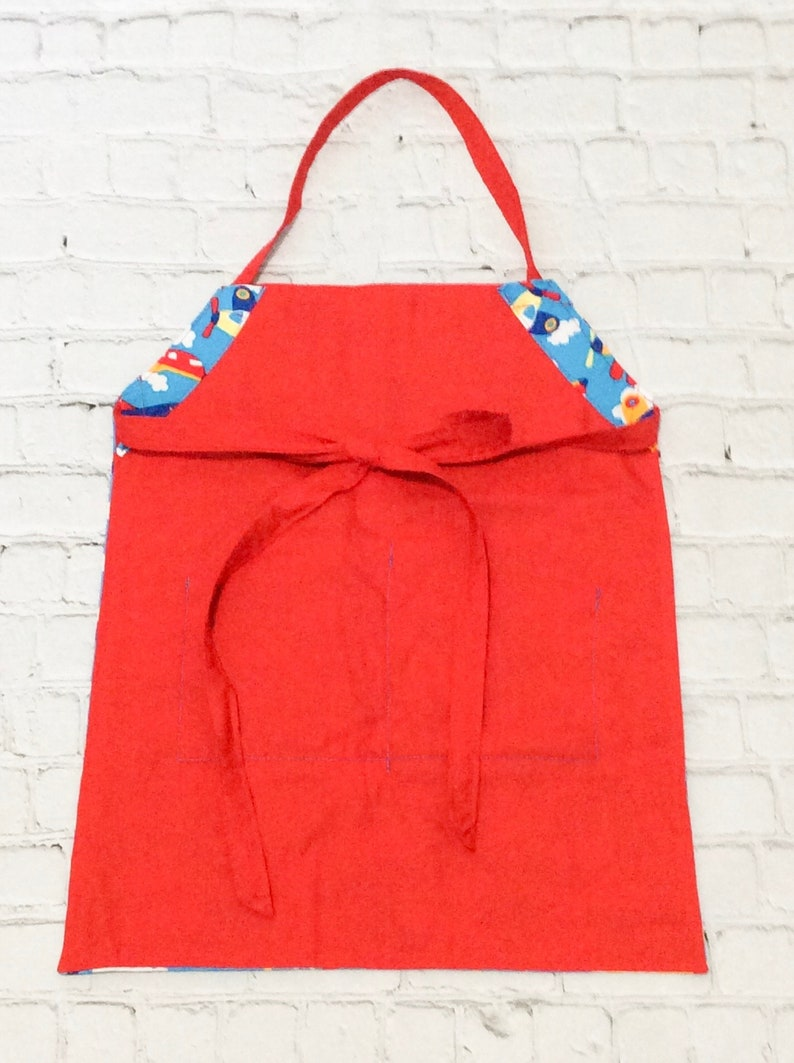 Children/'s Craft Apron Painting Smock Boy Birthday Gift Personalized Birthday Party Gift Airplane Baking Apron