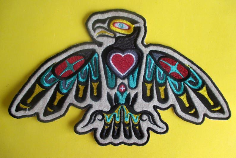Jumbo 12 Par 7 Brodé Native American Eagle Coeur Applique Etsy