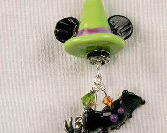 Witch Hat Mickey/Minnie Necklace